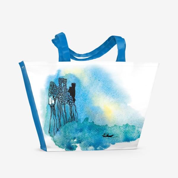 Пляжная сумка «За тех, кто в море.»