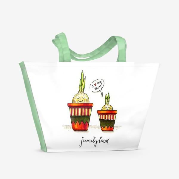 Пляжная сумка «FAMILY LOOK. RED»