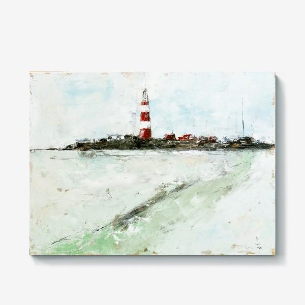 Холст «Абстрактный маяк»