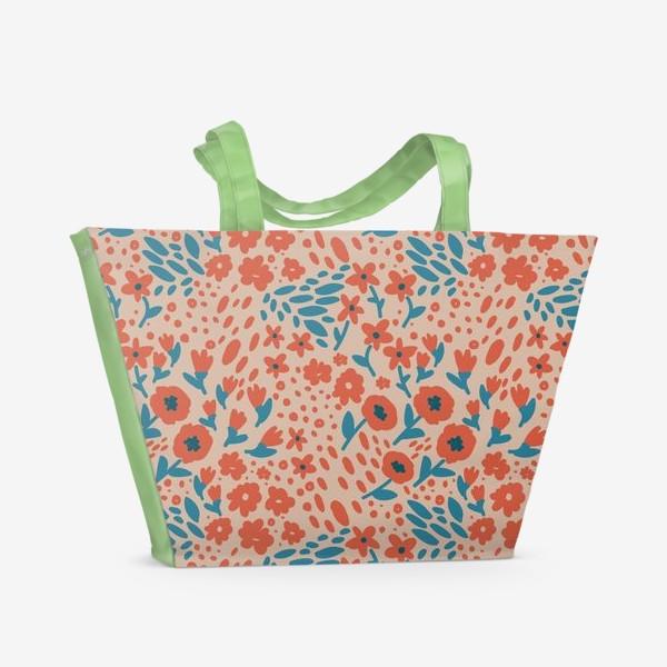 Пляжная сумка «folkloric flowers»