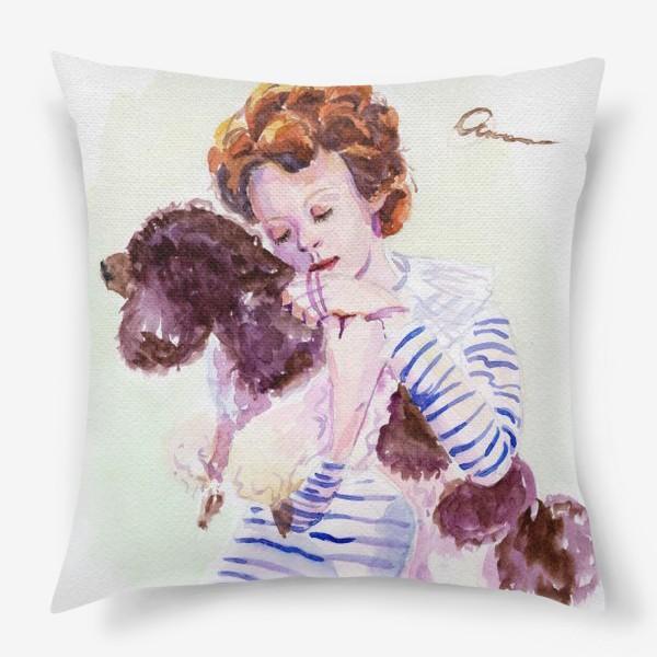 Подушка «Девочка с пуделем»