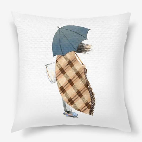 Подушка «Девушка на ветру.»