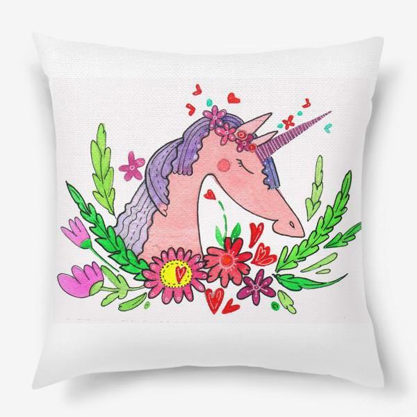 Подушка «Единорог Розочка»