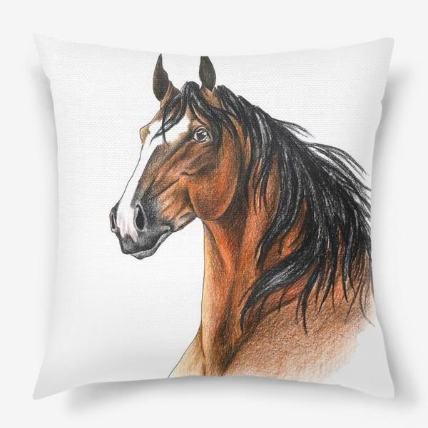 Подушка «Гнедой конь»