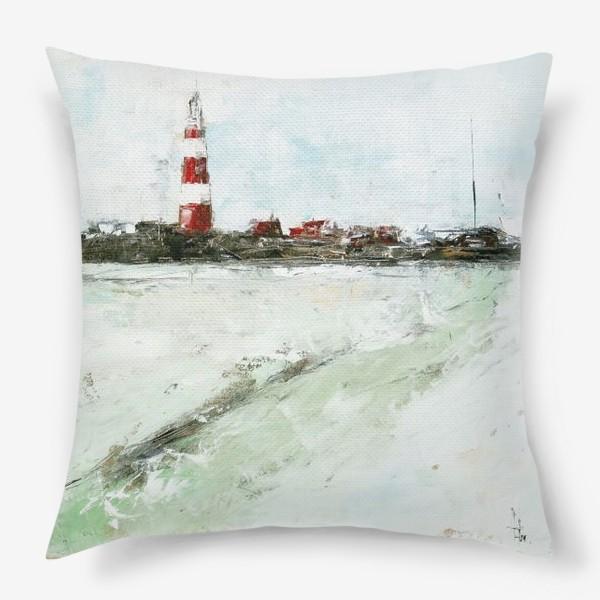 Подушка «Абстрактный маяк»