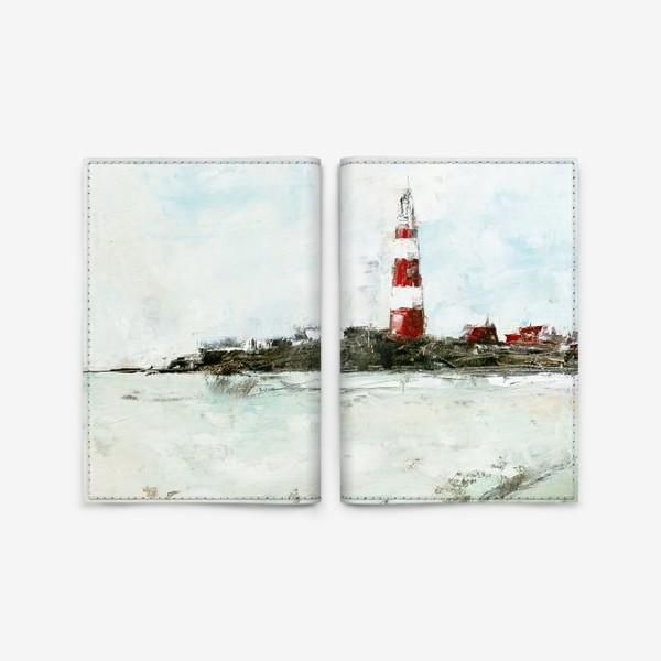 Обложка для паспорта «Абстрактный маяк»