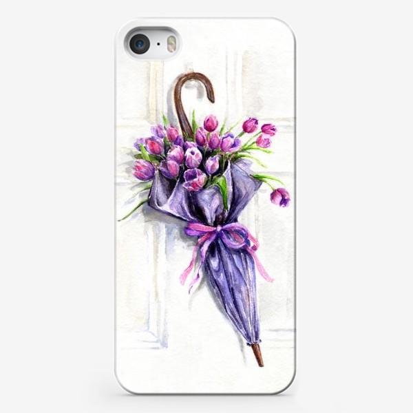 Чехол iPhone «Пусть дождь будет, только, из цветов.»