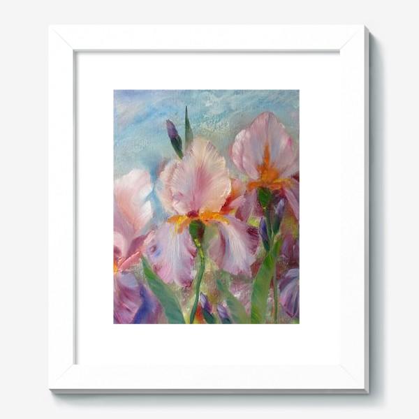 Картина «Розовые ирисы»