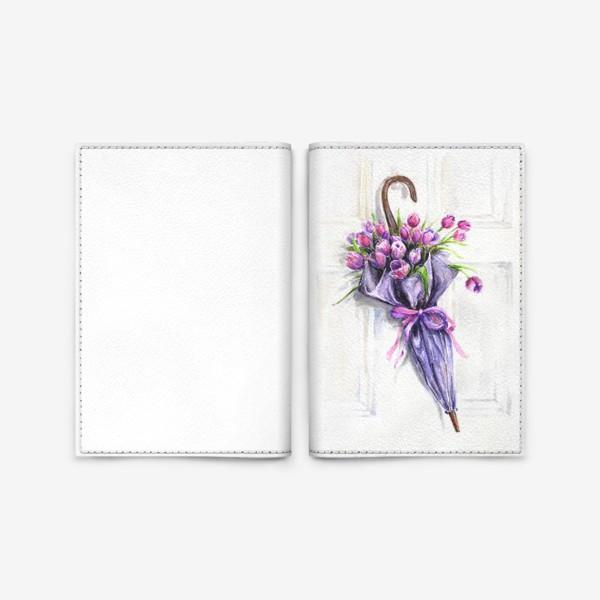 Обложка для паспорта «Пусть дождь будет, только, из цветов.»