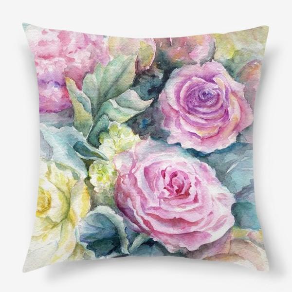 Подушка «Море цветов.»