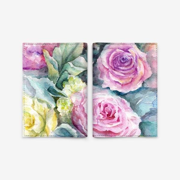 Обложка для паспорта «Море цветов.»