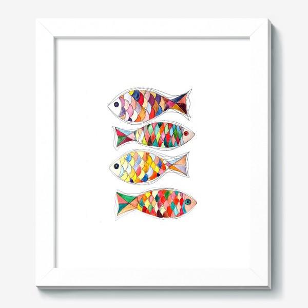 Картина «четыре  рыбы»