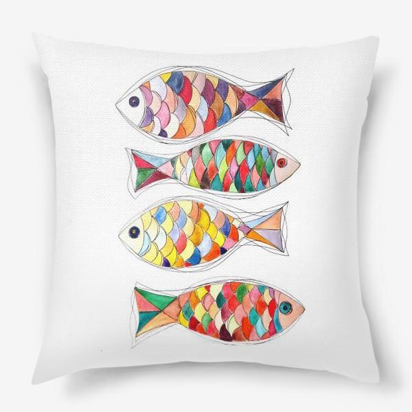 Подушка «четыре  рыбы»