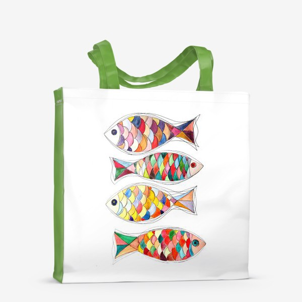 Сумка-шоппер «четыре  рыбы»