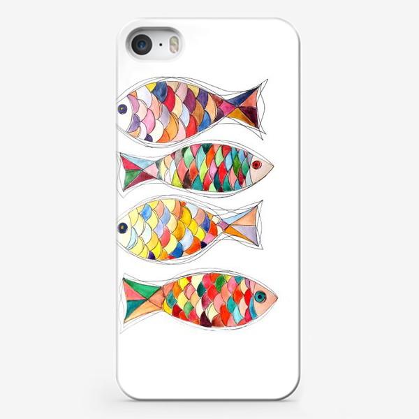 Чехол iPhone «четыре  рыбы»