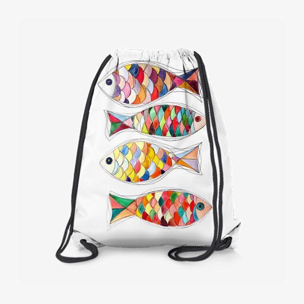 Рюкзак «четыре  рыбы»