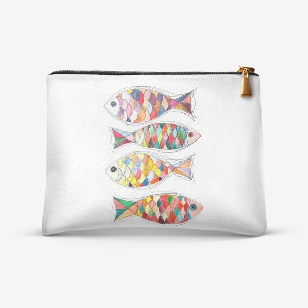 Косметичка «четыре  рыбы»