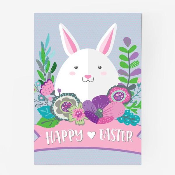 Постер «Happy Easter Funny Bunny»