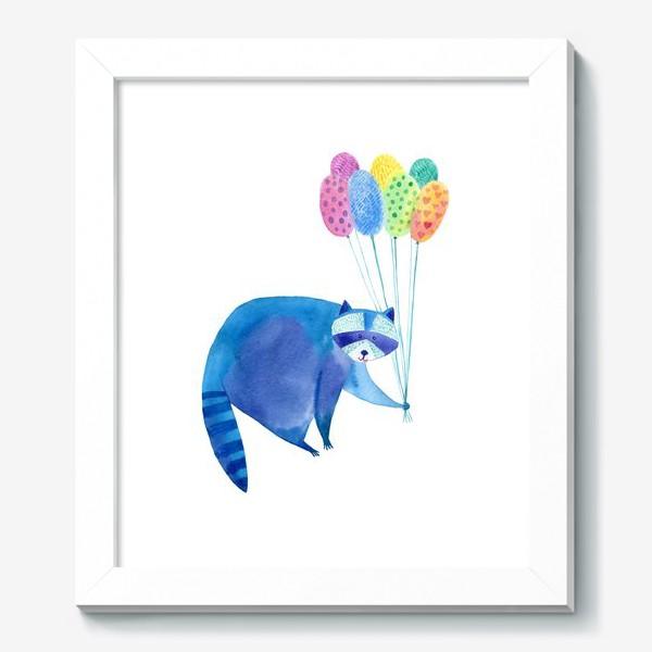 Картина «Енот и воздушные шары»