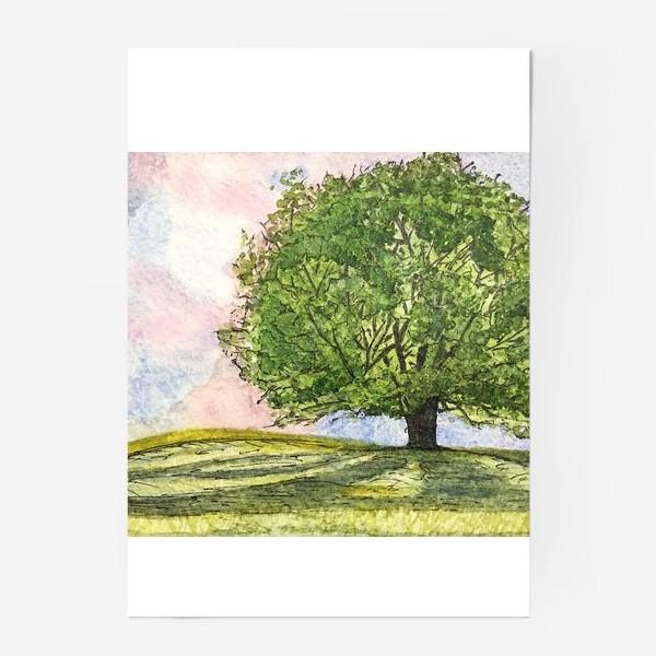 Постер «дерево в поле»
