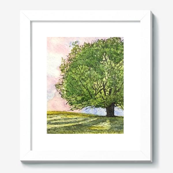 Картина «дерево в поле»
