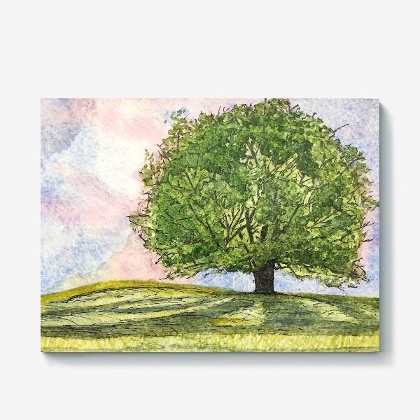 Холст «дерево в поле»