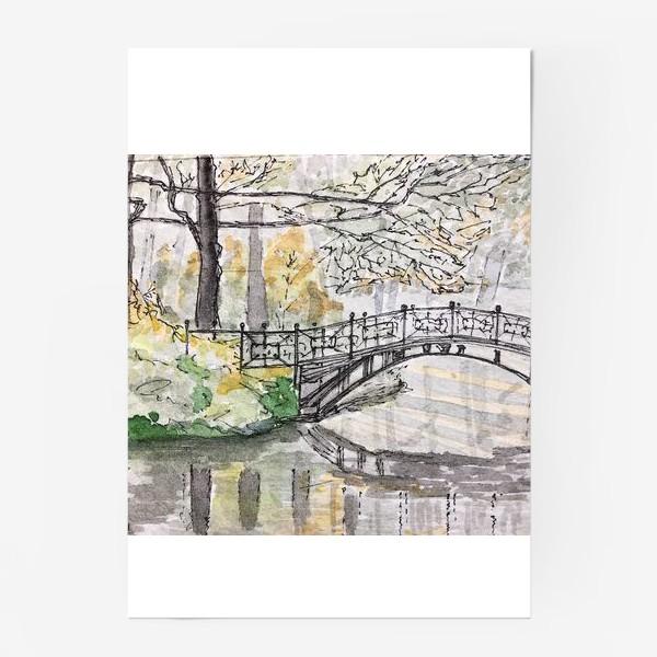 Постер «лесной мост»