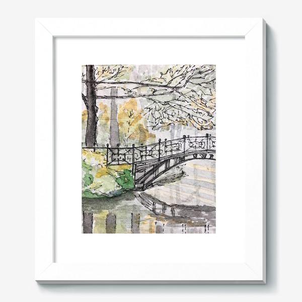 Картина «лесной мост»