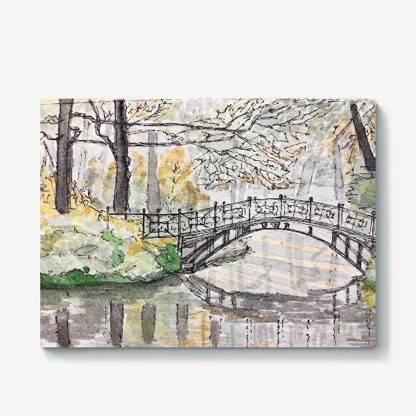 Холст «лесной мост»