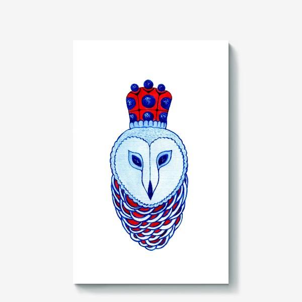 Холст «Сова. Королева ночи»