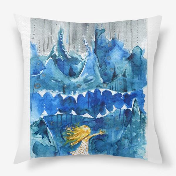 Подушка «Иногда море злится»