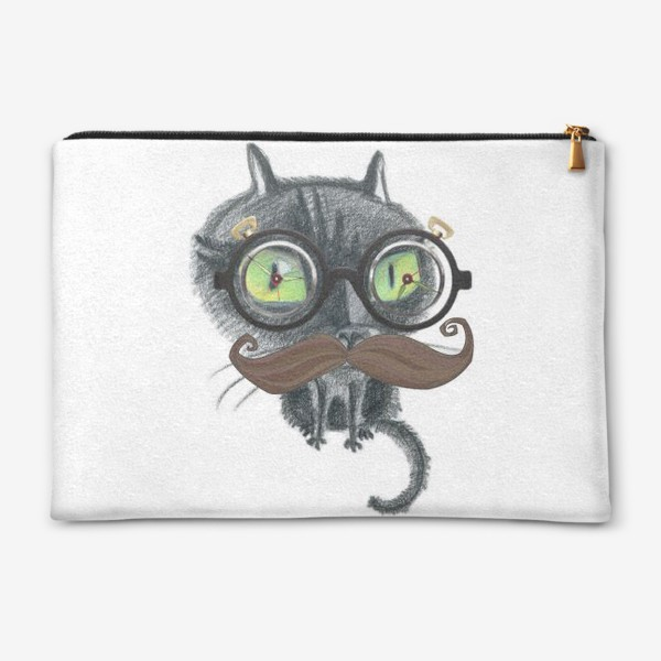 Косметичка «Сумасшедший профессор-кот»
