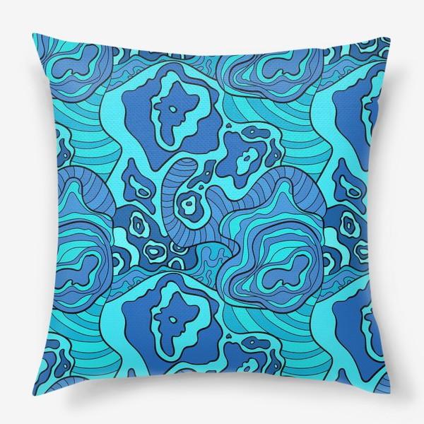 Подушка «Бушующее море»