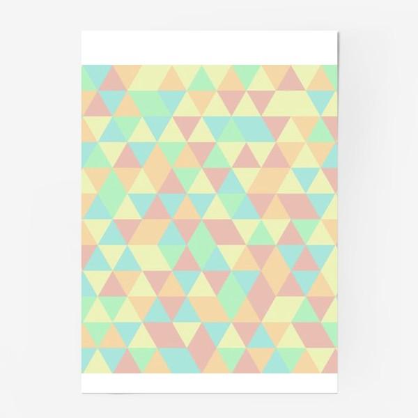 Постер «Бесшовный паттерн с треугольниками»