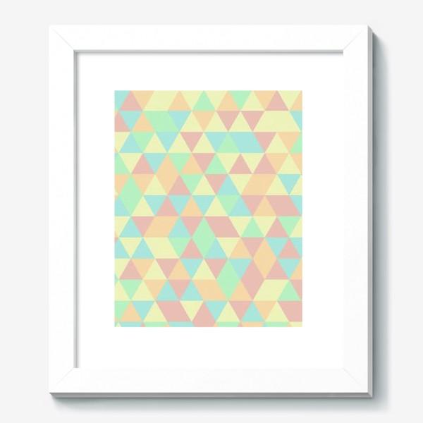 Картина «Бесшовный паттерн с треугольниками»