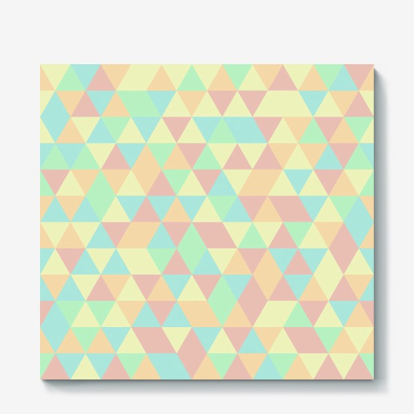 Холст «Бесшовный паттерн с треугольниками»