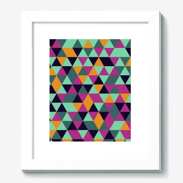 Картина «Бесшовный геометрический паттерн с треугольниками. Seamless geometric pattern with triangles.»