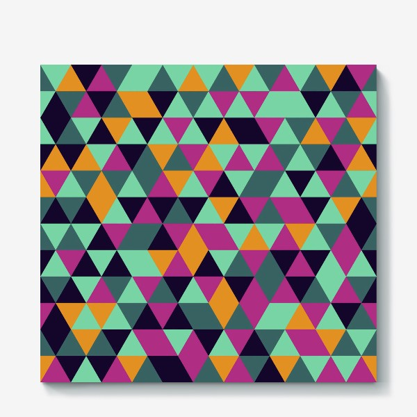 Холст «Бесшовный геометрический паттерн с треугольниками. Seamless geometric pattern with triangles.»