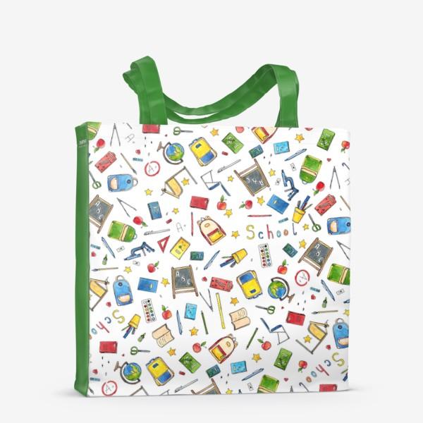 Сумка-шоппер «Паттерн Школа School supplies »