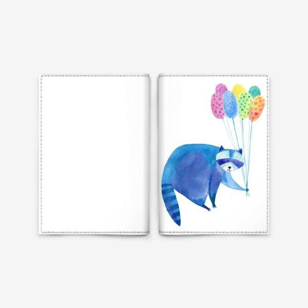 Обложка для паспорта «Енот и воздушные шары»