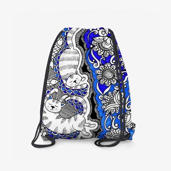 Рюкзак «Коты и цветы»