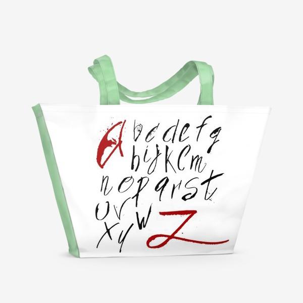 Пляжная сумка «Алфавит»