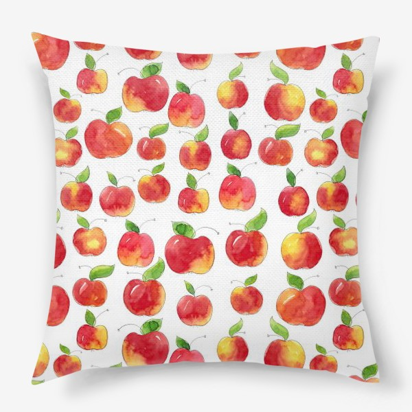 Подушка «Паттерн с красными яблоками Apple pattern»