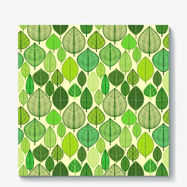 Холст «Green rain »
