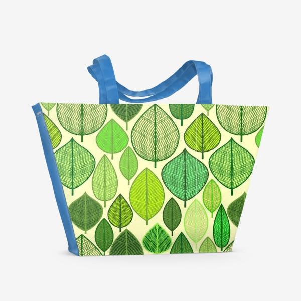 Пляжная сумка «Green rain »