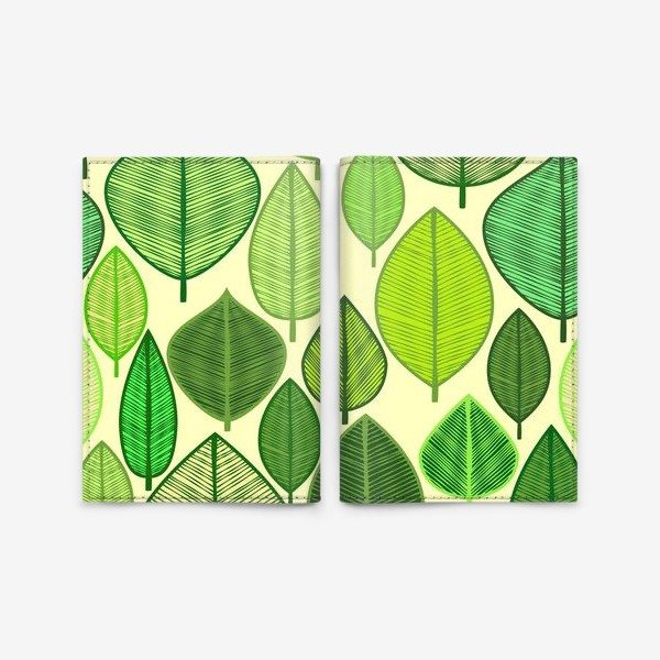 Обложка для паспорта «Green rain »