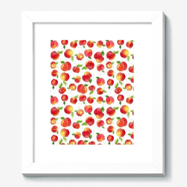 Картина «Паттерн с красными яблоками Apple pattern»