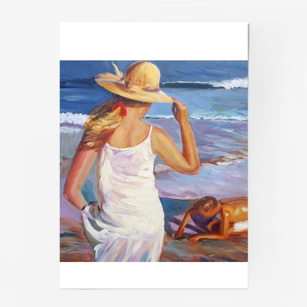 Постер «На пляже»