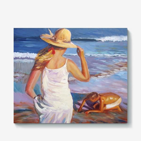 Холст «На пляже»