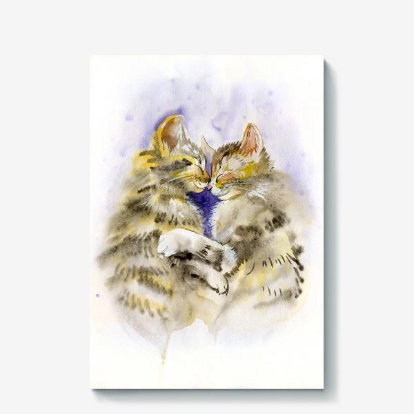 Холст «Котообнимашки»
